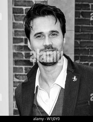 Los Angeles, CA - June 02, 2019: Brett Dalton attends the Premiere Of Universal Pictures' 'The Secret Life Of Pets 2' held at Regency Village Theatre - Stock Image