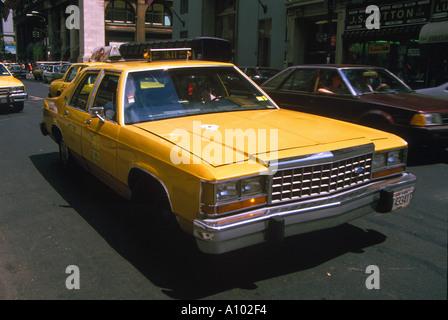 Yellow Cab New York USA - Stock Image