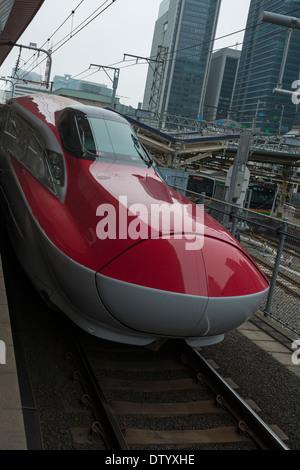 Super Komachi bullet train plying the Akita route Tokyo Japan - Stock Image