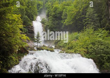 Cascades of the Giessbach Falls, Bernese Oberland. Switzerland. - Stock Image