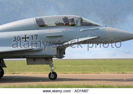 Zeltweg 2005 AirPower 05 airshow Austria, Eurofighter Typhoon - Stock Image