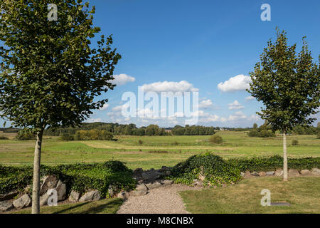 View of Vrangstrup Meadows with Suså valley - Stock Image