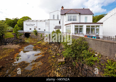 CARBOST, SCOTLAND - July 13: Talisker Distillery, only whisky distillery on the Isle of Skye on July 13, 2012 in - Stock Image
