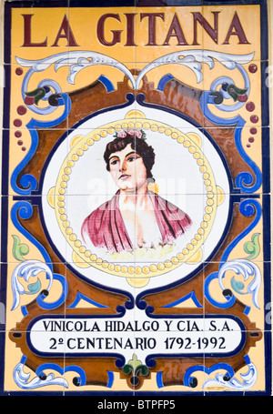 Tapas Bar Sign, La Gitana, Seville, Spain - Stock Image