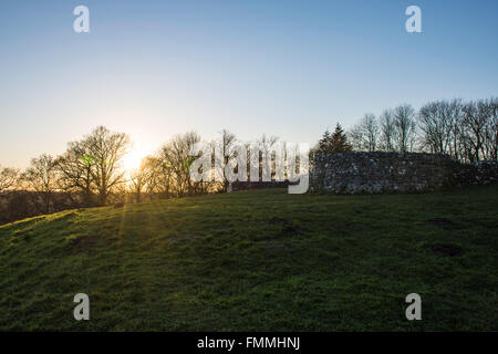Sun Set on a Hill Top - Stock Image