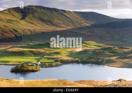 view of Lynnau Gregennan and Tyrrau Mawr - Stock Image