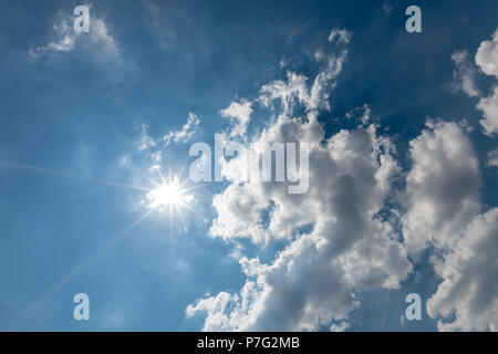 Bournemouth, UK. 6th July 2018. UK Weather,  the summer 2018 heatwave continues. Credit: Thomas Faull / Alamy Live News - Stock Image