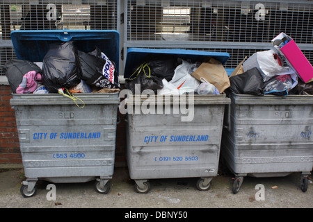 City Of Sunderland Refuse Bins. - Stock Image