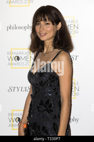 Guests attend the Stylist's inaugural Remarkable Women Awards in partnership with philosophy at Rosewood London  Featuring: Jasmine Hemsley Where: London, United Kingdom When: 05 Mar 2019 Credit: Phil Lewis/WENN.com - Stock Image