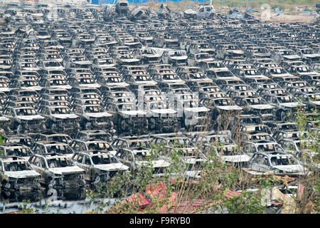 Tianjin Explosion aftermath, blast site. Photo Jayne Russell 17th August 2015 17.08.15 - Stock Image