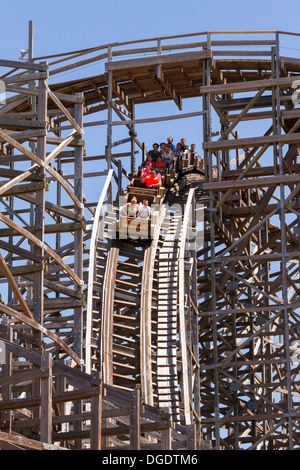 Boardwalk bullet at Kemah boardwalk amusement park - Stock Image