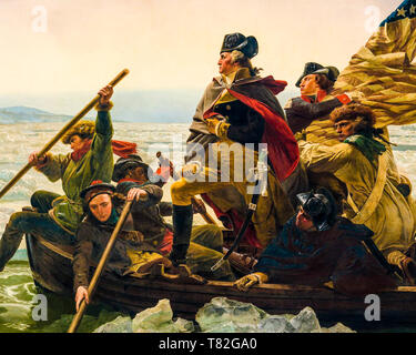 Washington Crossing the Delaware (detail), Emanuel Leutze, 1851 - Stock Image