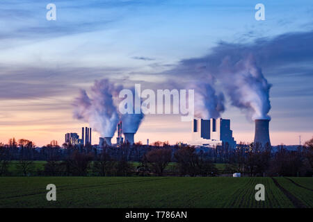 Brown coal power plant of the company RWE Power - Stock Image