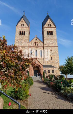Eibingen Abbey (Abtei St. Hildegard), Rheingau, Hesse, Germany. - Stock Image