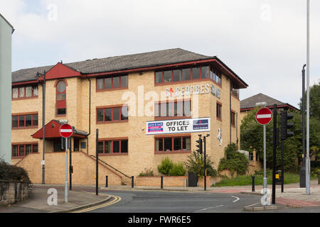 St Georges Square office complex off All Saints Street and St. George's Street, Bolton with To let sign on exterior. - Stock Image