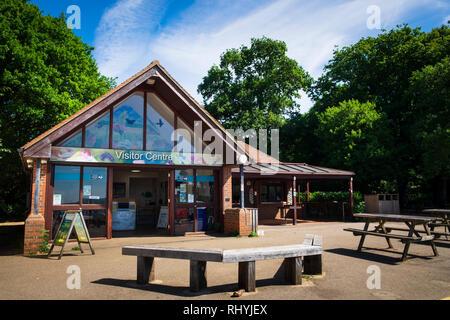 Visitor Centre at Newlands Corner park in Surrey - Stock Image