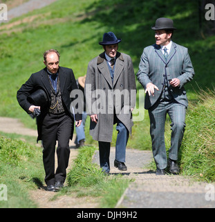 Michael McElhatton and Matthew Macfadyen Celebrities filming scenes  BBC's new drama 'Ripper Street' - Stock Image