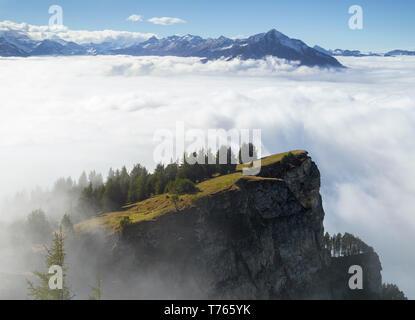 Foggy Niederhorn mountain - Stock Image