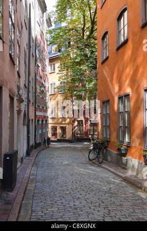 Kindstugatan, Old Town of Stockholm, Sweden - Stock Image