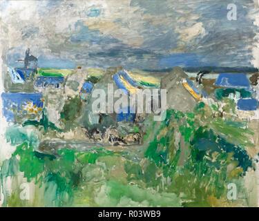 Village by the Sea, Edouard Vuillard, 1909, Zurich Kunsthaus, Zurich, Switzerland, Europe - Stock Image
