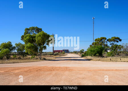 Airfield mast at the remote locality of Rawlinna, in the Nullarbor plain in Western Austrailia. - Stock Image