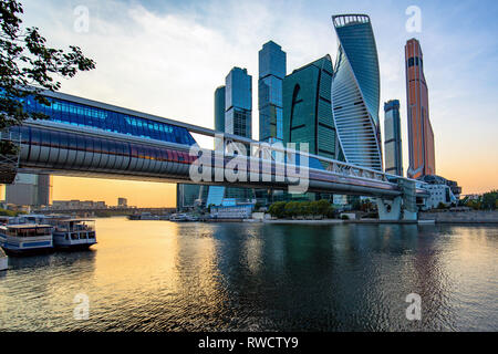 Moscow, Russia - September 5, 2018: View of Moscow City. International Business Center - Stock Image