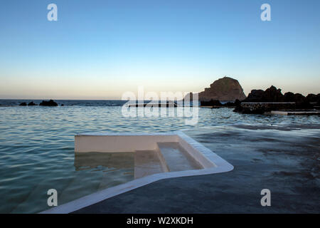 Portugal, Madeira Island, Porto Moniz, Natural Swimming Pools - Stock Image