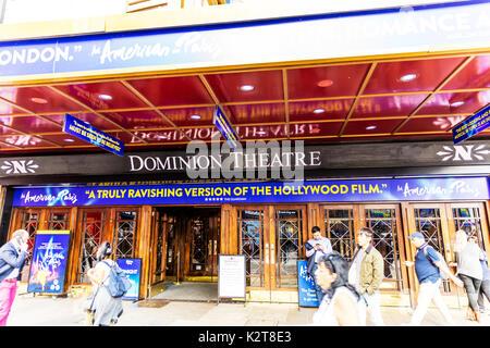 Dominion Theatre London, Dominion Theatre Leicester Square London, Dominion Theatre London West End, West End theatres, West End theatre, London, UK - Stock Image