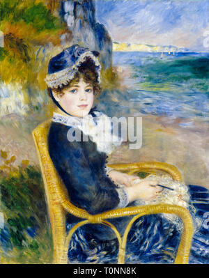 Pierre Auguste Renoir, By the Seashore, portrait painting, 1883 - Stock Image