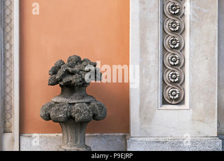 ancient villa ornaments, Italy - Stock Image