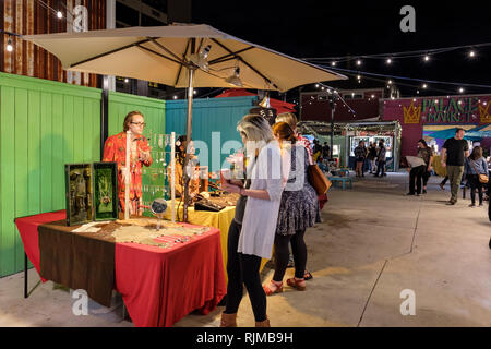 Palace Market Frenchmen, Frenchmen Street, Marigny Neighbourhood, New Orleans French Quarter, New Orleans, Louisiana, United States of America, USA - Stock Image
