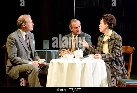 Left to right: Andrew Havill as Warnie, Hugh Bonneville as C.S. Lewis & Liz White as Joy Gresham in Shadowlands by William Nicholson at Chichester Fes - Stock Image