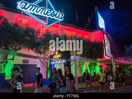 Entrance to Amnesia club in Ibiza - Stock Image