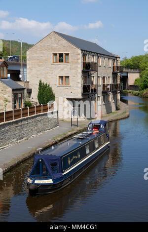 Calder & Hebble Navigation at Elland Wharf, West Yorkshire - Stock Image