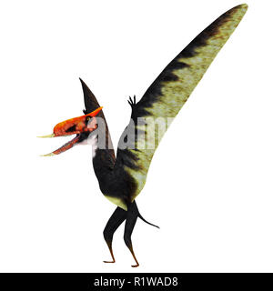 Dsungaripterus was a Pterosaur raptor bird that lived in China during the Cretaceous Period. - Stock Image