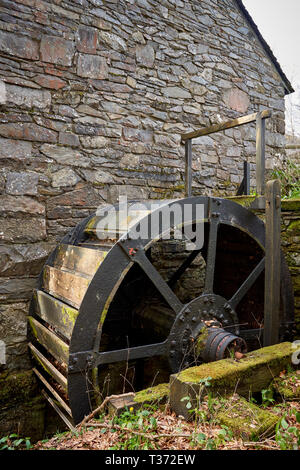 Mill-wheel, St Fagans National Museum of History, Cardiff, South Wales - Stock Image
