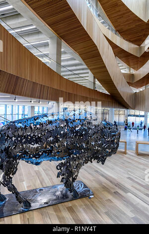 The Calgary Central Library, also known as the Calgary New Central Library (NCL) - Stock Image