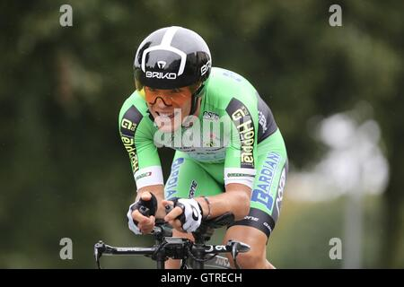 Bristol, UK.  10th September 2016. Tour of Britain stage 7a, time trial.  Edoardo Zardini Credit:  Neville Styles/Alamy - Stock Image