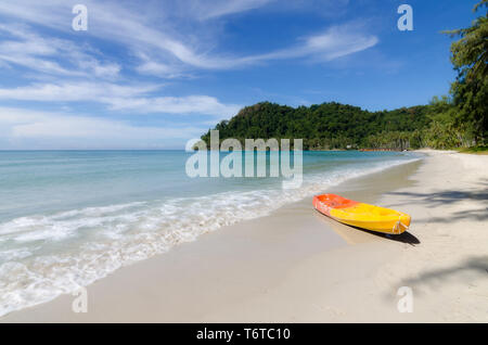 Orange kayaks on the tropical beach in Phuket, Thailand. Summer, Vacation and Travel concept. - Stock Image