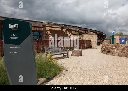 Entrance to the Sill National Landscape and Discovery Centre, near Hexham, Northumberland, northern England. - Stock Image