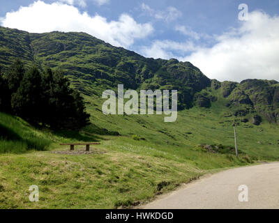 Mountains in the Highlands of Scotland - Stock Image