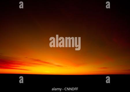 Outback sunrise - Stock Image