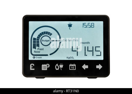 Smart Meter, United Kingdom. An electronic device for recording and monitoring the consumption of electricity in the home. - Stock Image