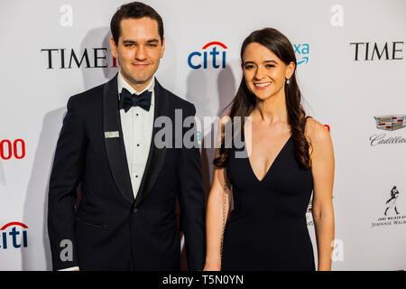 Ezra Levin & Leah Greenberg attend TIME 100 GALA on April 23 in New York City - Stock Image