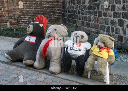 Berlin Bears in Nicolai District, Berlin - Stock Image