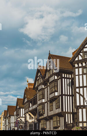 LONDON, UNITED KINGDOM - August 13th, 2018: architecture in London city centre near the famous Liberty shopping centre - Stock Image