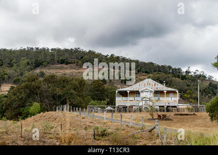 A typical old Queenslander style home in southern Queensland Australia. - Stock Image