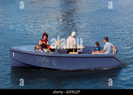 GoBoat picnic trip in the canals of Copenhagen Harbour - Stock Image