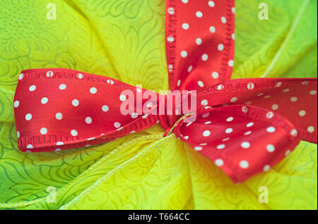 Gift ribbon bow - Stock Image