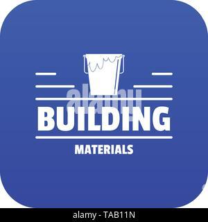 Construction icon blue vector - Stock Image